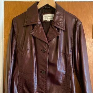 Women's Brandon thomas leather jacket size medium